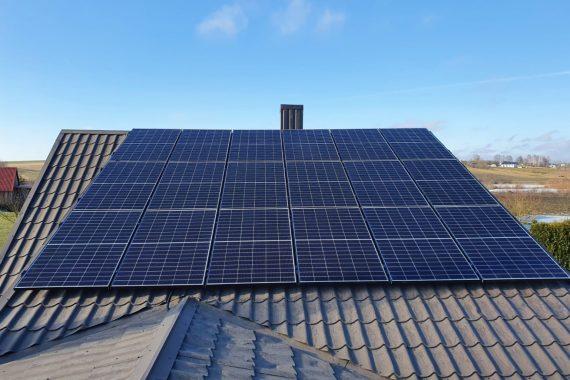 Saulės elektrinės sprendimas privačiam namui